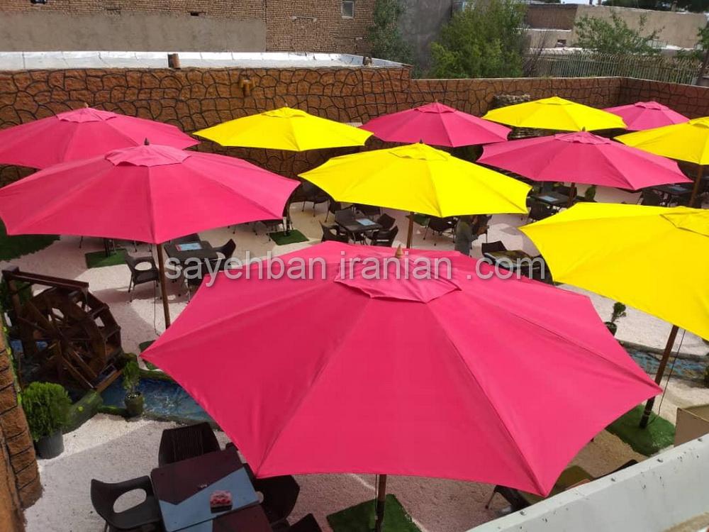 چتر پایه وسط فلزی رستوران مارینو کن سولقان