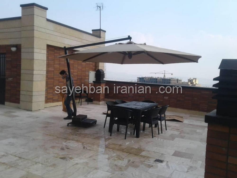 چتر پایه کنار رستوران المهدی در شهریار
