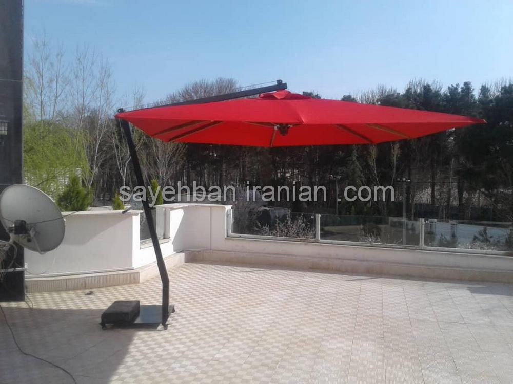 چتر پایه کنار ویلای اقای عسگری لواسان